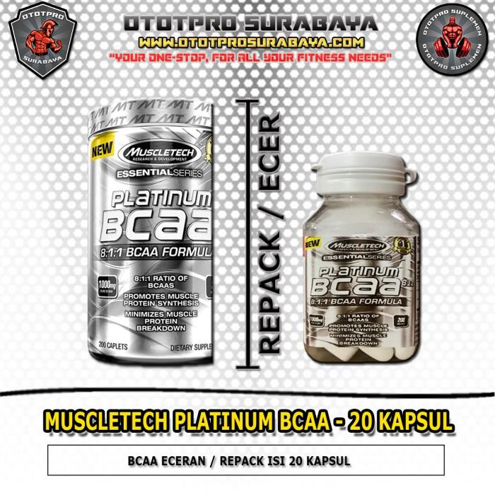 Muscletech Platinum BCAA 20 Kapsul /Eceran/Suplemen/Fitness/Amino/Gym/