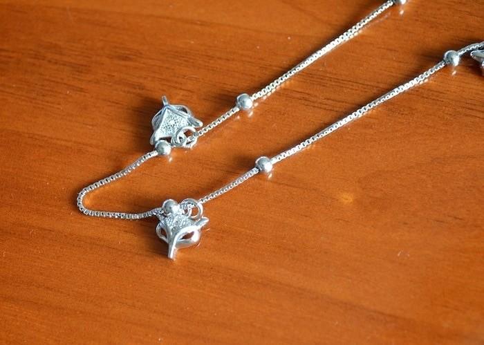harga Gelang kaki fox perak 926 strerling lapis emas putih /perhiasan silver Tokopedia.com