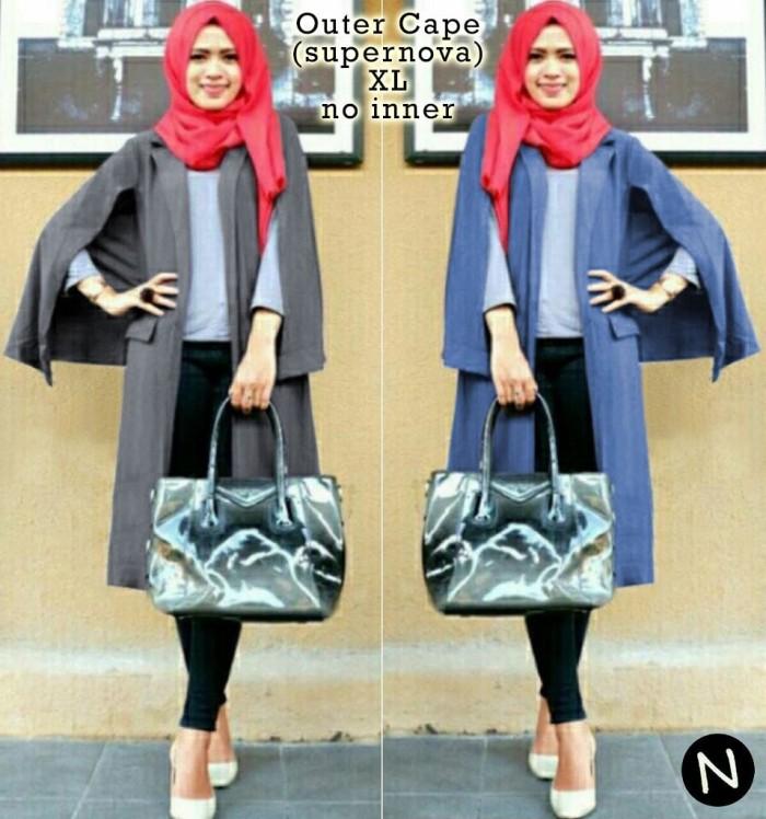 Jual 6469 outer cape blazer cape cardigan wanita baju murah Pakaian ... d39dbee140