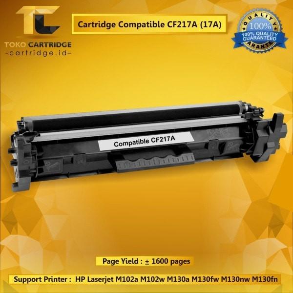 harga Cartridge toner hp 17a cf217a + chip printer hp m102a m130a m130nw Tokopedia.com
