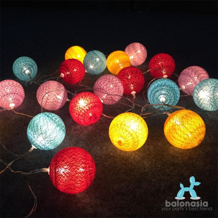 harga Balonasia ball light led  lampu led tumblr benang lampion gantung hias Tokopedia.com