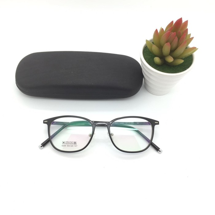 Frame kacamata korea 6279 black glossy kacamata pria kacamata wanita 3f826a2294