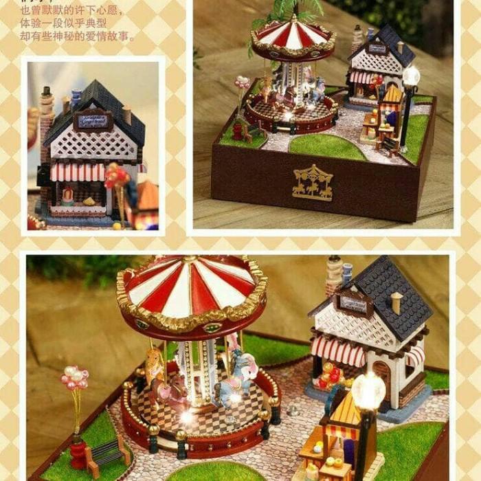 harga Diy carousel music box with display - sunshine version - kotak musik Tokopedia.com