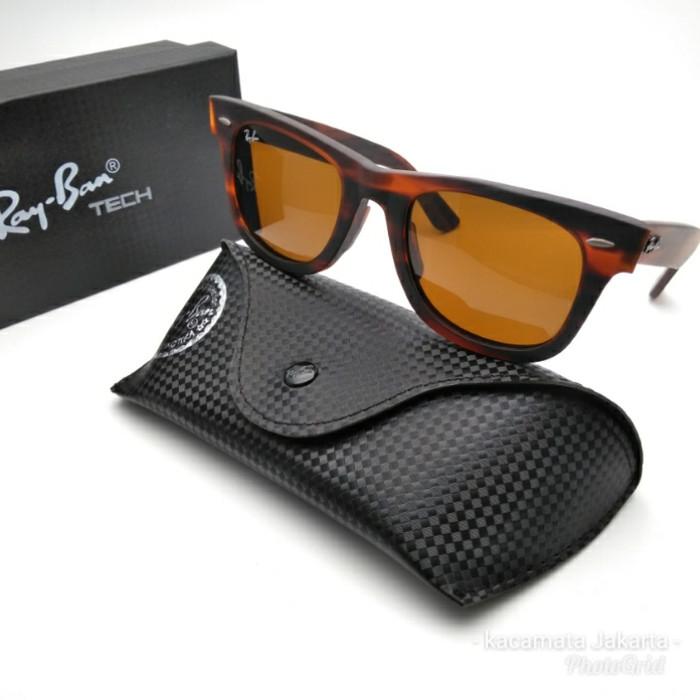 ... inexpensive kacamata rayban 2140 wayfarer coklat doff sunglasses pria  wanita 26258 09766 9053ba0eaf