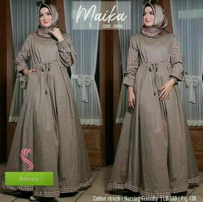 Jual Model Baju Muslim Gamis Terbaru Dan Modern Maika