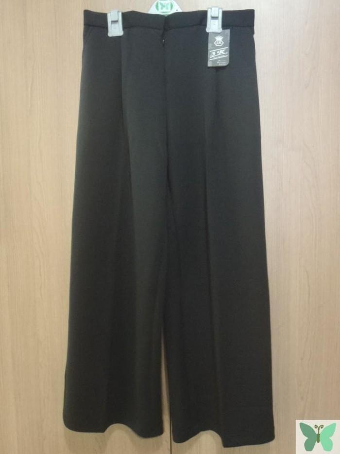 Kulot Panjang Hitam Wanita Celana Cewek Black Polos Kerja XXXL Jumbo .