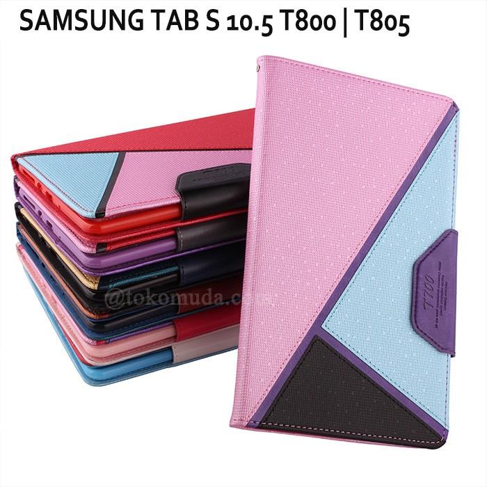 Foto Produk Samsung Galaxy Tab S 10.5 T800 T805 Fashion Flipcase Casing Autolock dari TokoCasingCover