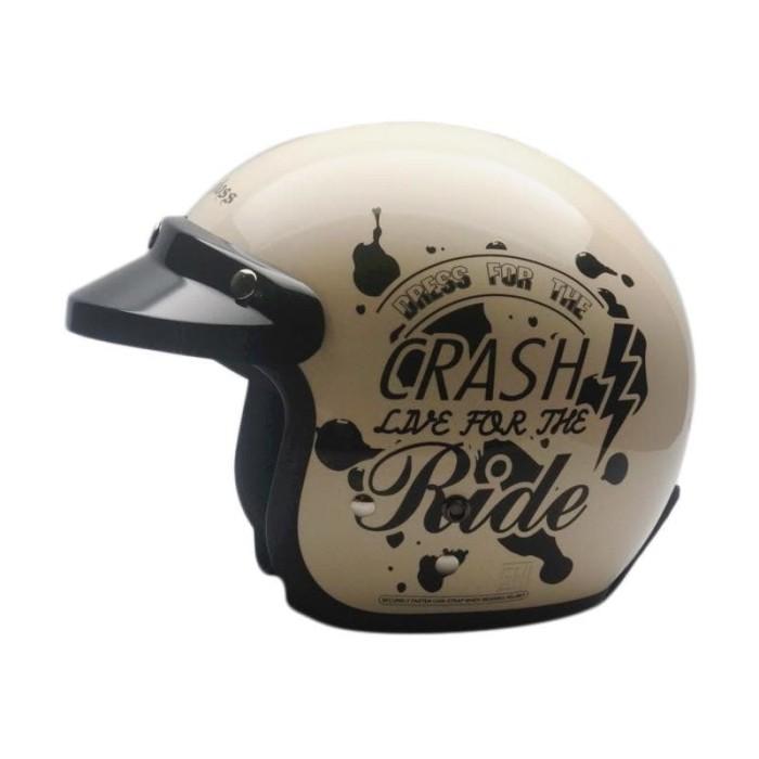 harga Helm cargloss cf retro crash ride - ivory size m Tokopedia.com