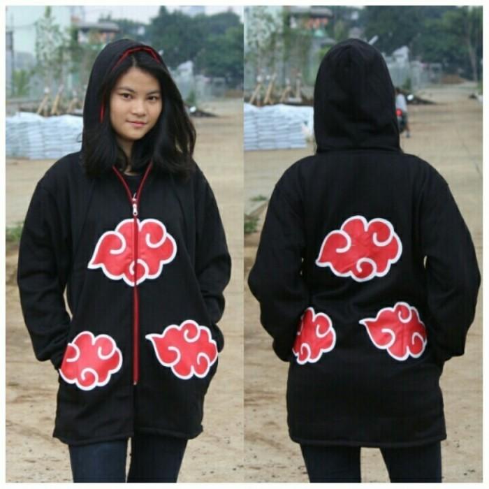 harga Jaket akatsuki jubah anime naruto/ hoodie zipper custom itachi clan Tokopedia.com