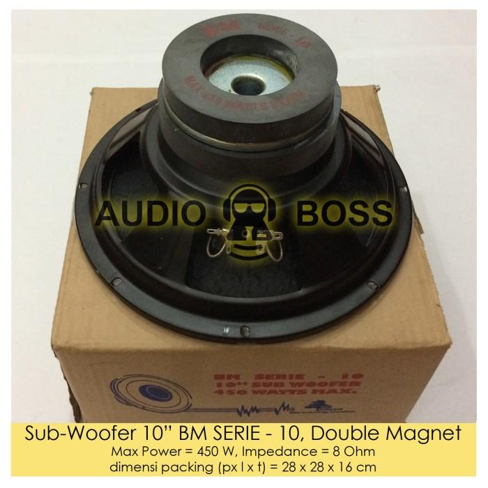 harga Speaker subwoofer 10 inch bm serie - 10 double magnet / 10  bm serie Tokopedia.com