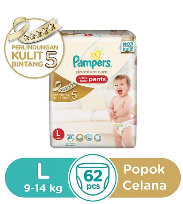 harga Stock 1 Pampers Premium Care Pants - Popok Celana L62 / L 62 / L-62 Tokopedia.com
