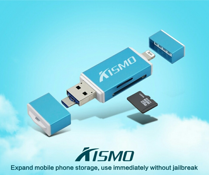 Jual Dual Flashdisk OTG IPhone Kismo Memory Card Reader SD