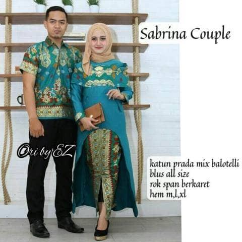 Batik Couple Sabrina Princes kebaya Modern Batik Sarimbit Keluarga Sep
