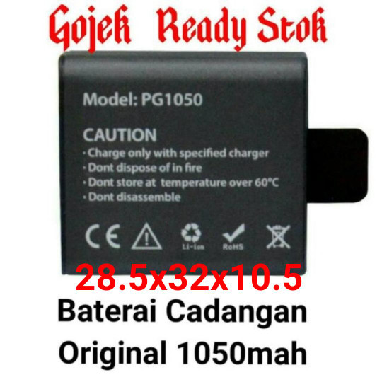 harga Baterai original eken h8r v3 1050mah kogan sj cam bpro action cam Tokopedia.com