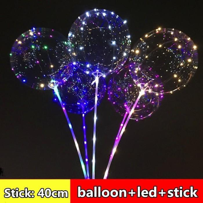 harga Led balloon balon led lampu tumblr balon gas helium free stick Tokopedia.com