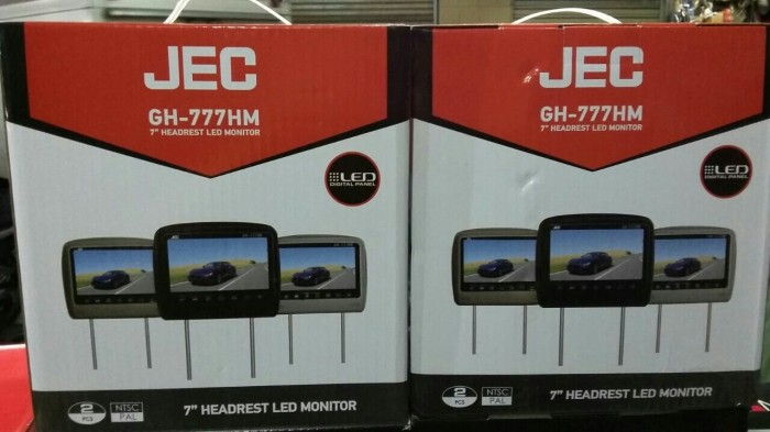 harga Tv kepala bantal headrest monitor headrest jec avanza innova terios Tokopedia.com