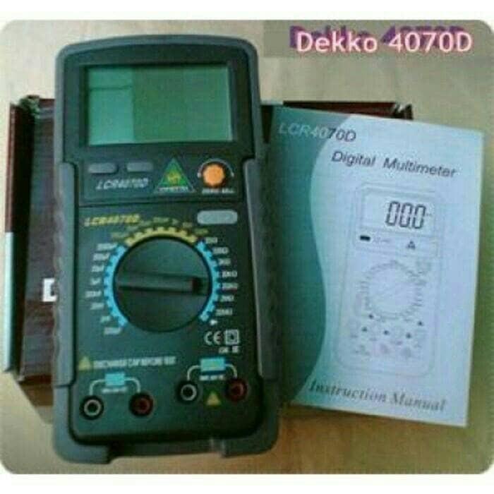 harga Dekko l4070d lcr meter inductance capasistance resistance l-4070d Tokopedia.com