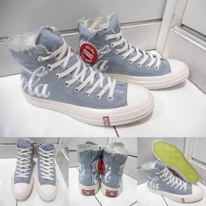 ff07106a496e ... harga Sepatu converse all star chuck taylor 70s kith coca cola high  grey abu Tokopedia.