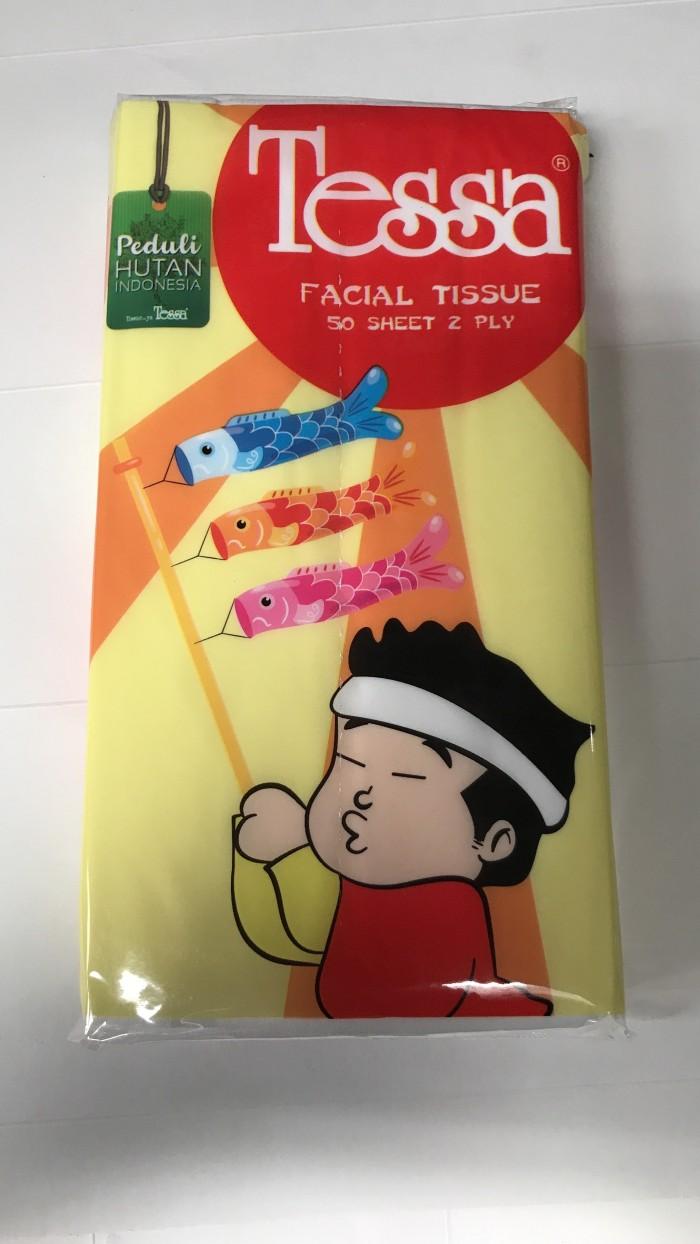 Foto Produk Tessa Travel Pack Facial Tissue 50 Sheet 2 Ply / Tisu Muka Lebar Murah dari Ben Motoshop