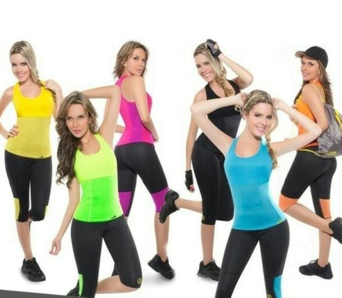 66bf9a53cb Jual Baju Fitness Wanita Hot Shapers Baju Senam Zumba Body Image ...