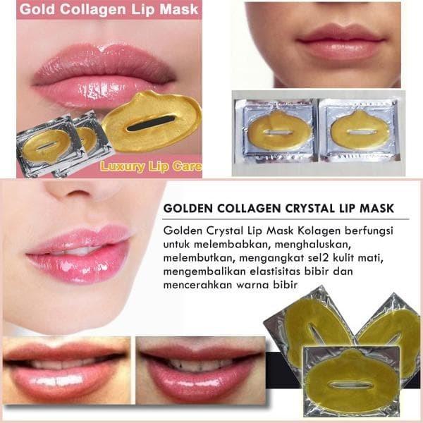 Masker Bibir - Collagen Lip Mask - 10 Pcs