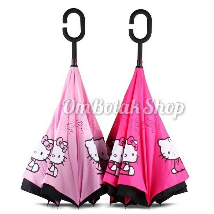 harga Payung terbalik hello kitty karakter sanrio. reverse inverted umbrella Tokopedia.com