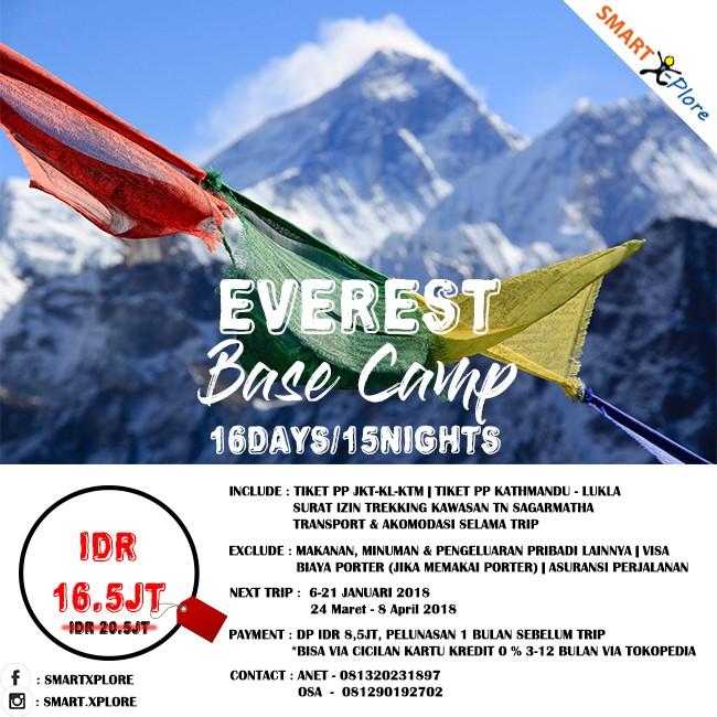 Jual Trip To Everest Base Camp 16d 15 N Kota Depok Smart Xplore Tokopedia