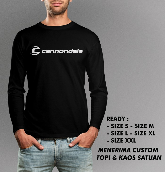 harga Kaos cannondale tangan panjang murah keren Tokopedia.com