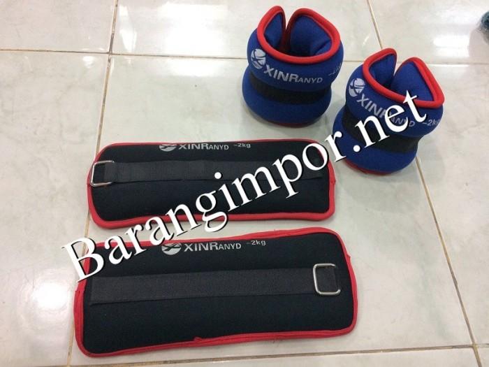 Foot band 4kg/pair/senam/aerobic/zumba/lari/pemberat kaki/basket/bola