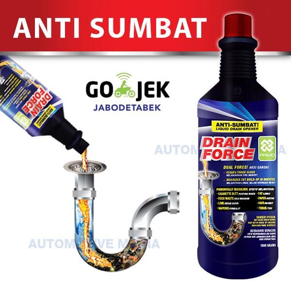 harga Anti sumbat / obat mampet / soda api cair primo drain force 1800 gr Tokopedia.com