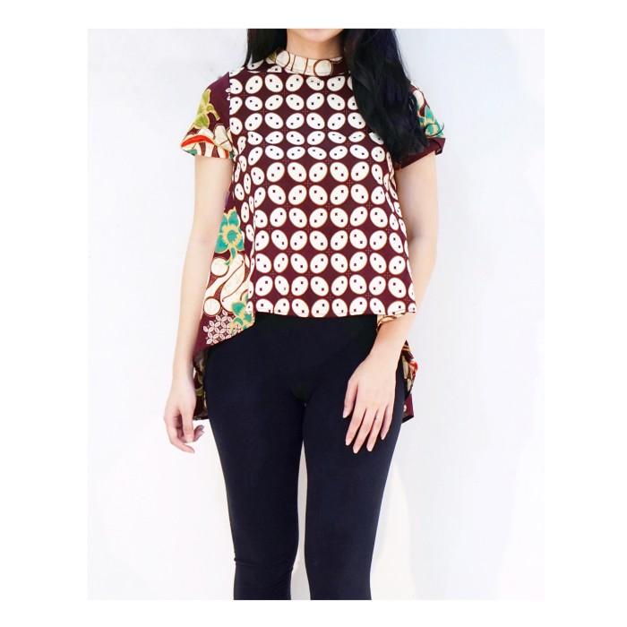 harga Baju batik modern pekalongan coklat / blouse batik jumbo fashion cokla Tokopedia.com