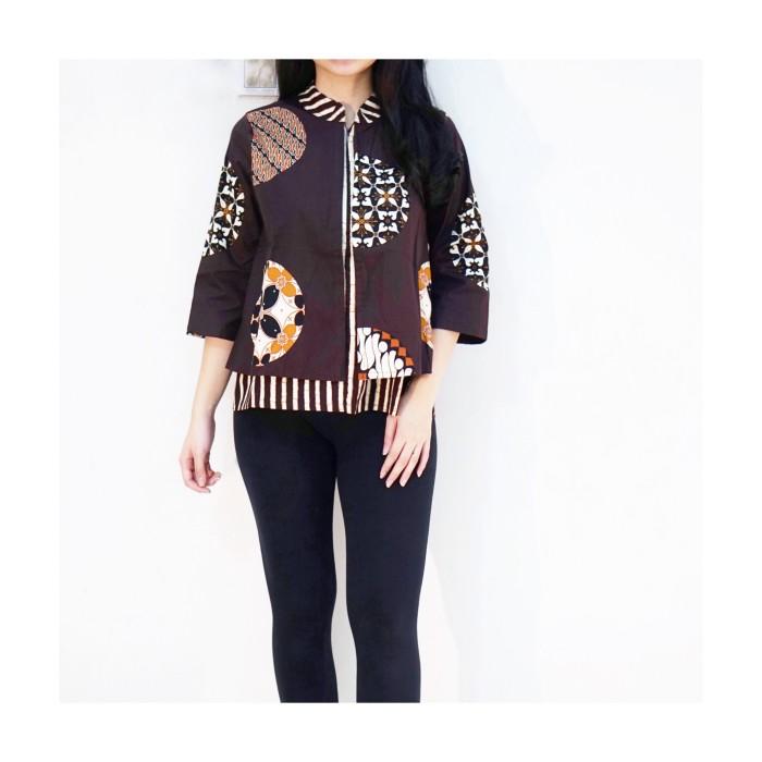 harga Baju batik kantor pekalongan solo coklat / kemeja batik kerja modern Tokopedia.com