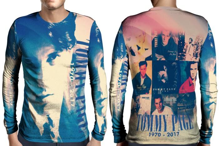Kaos T-Shirt Lengan Panjang Full Print Custom Tommy Page Art 2