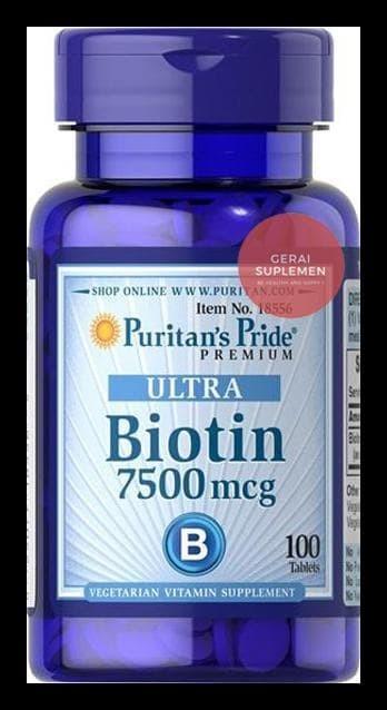 Murah - Ultra Biotin 7,500 Mcg (100 Tablets) - Penumbuh Rambut .