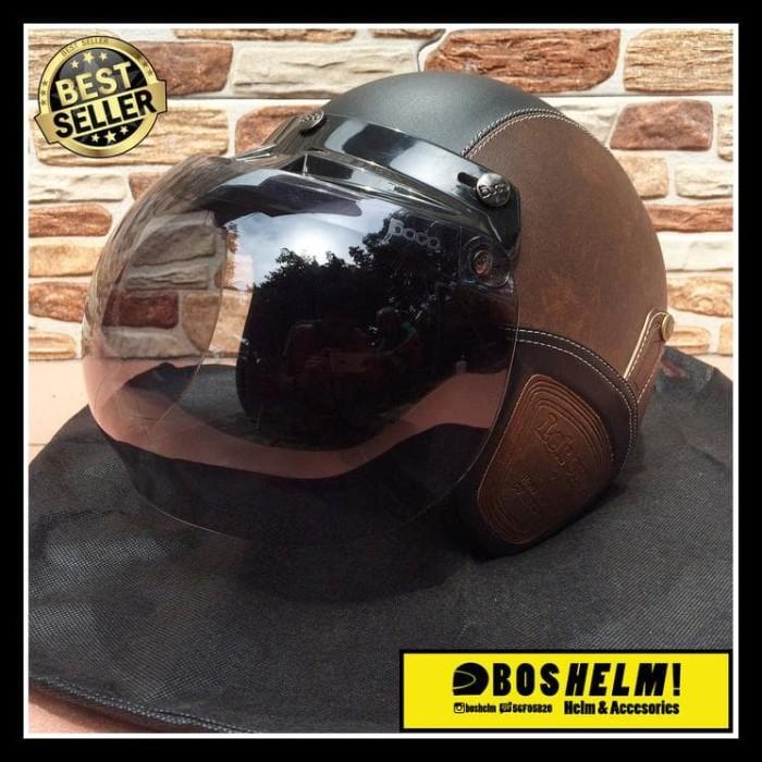 Harga Grosir! Helm Retro Bogo Kulit Lek Ono .. 1