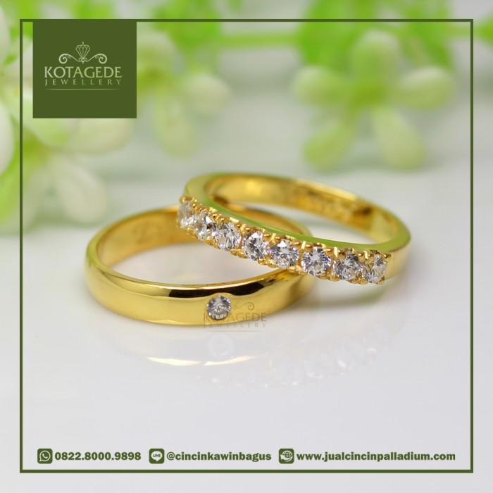 ... Couple Perak Lapis Rhodium G02 Silver Exclusive Harga Rp 485.000. Source · Cincin Kawin Emas Kuning Cantik Swarovski M001YG