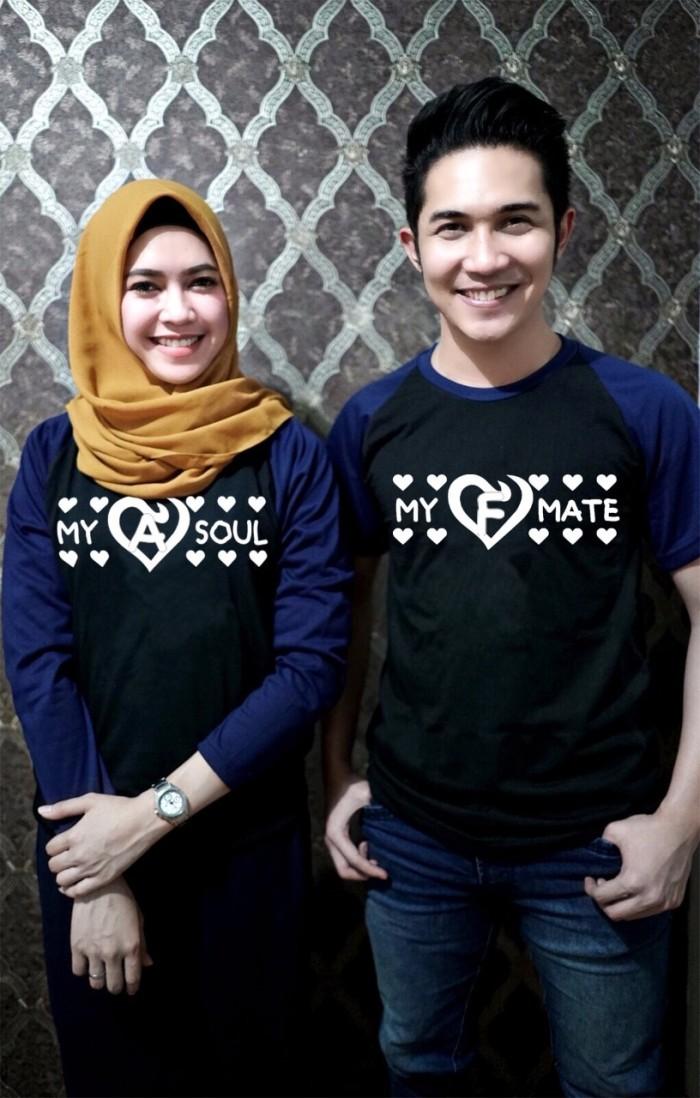 Baju Kaos Raglan Desain Couple Pasangan Keluarga Cetak Nama Anak Famil 825ac93e31