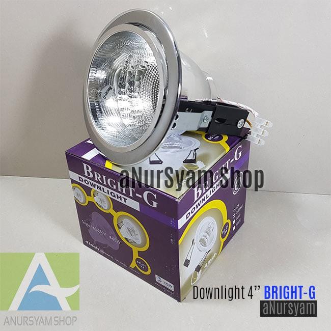 harga Rumah lampu downlight 4inch warna chrome silver Tokopedia.com