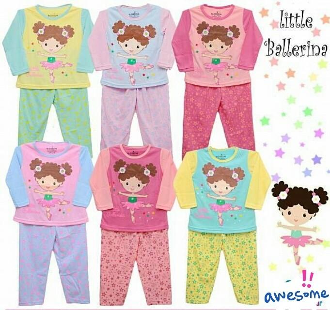 Baju Bayi Perempuan / Piyama Bayi / Piyama Anak / Baju Tidur Anak - 1-2 Tahun, Ungu