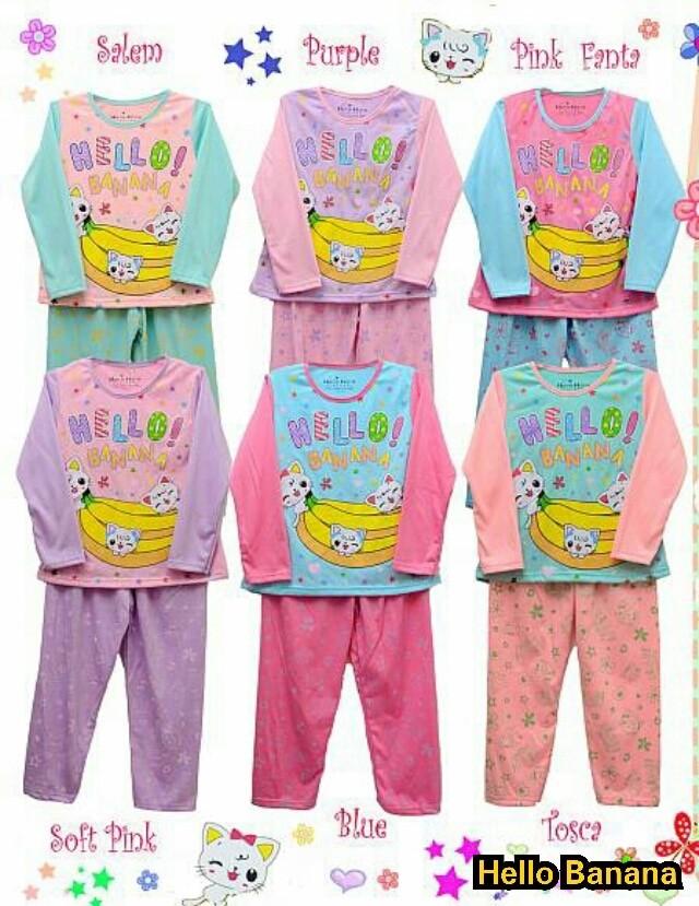 Baju Bayi Perempuan / Piyama Bayi / Piyama Anak / Baju Tidur Anak - 2-3 Tahun, Biru Muda