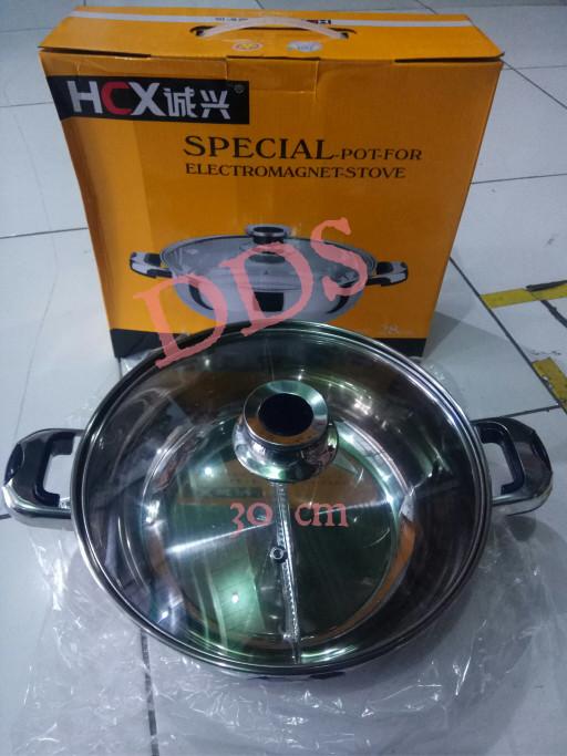 harga Panci shabu 2 sekat stainless 30 cm Tokopedia.com