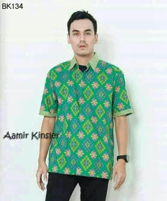 Jual Model Kemeja Batik Pria Batik Solo Laris Hem Batik Kombinasi