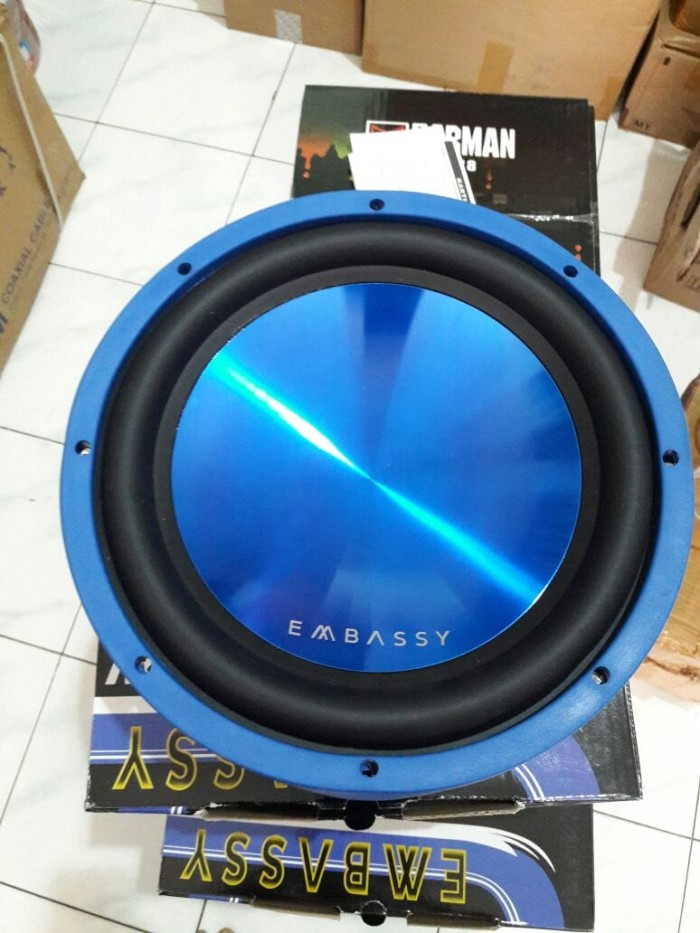 harga Speaker subwoofer embassy 12 inch ey 128 bl double coil Tokopedia.com