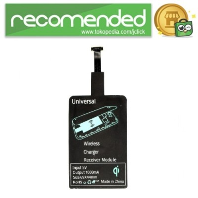 Qi Wireless Charging Reverse Micro USB Receiver for Smartphone - Hitam