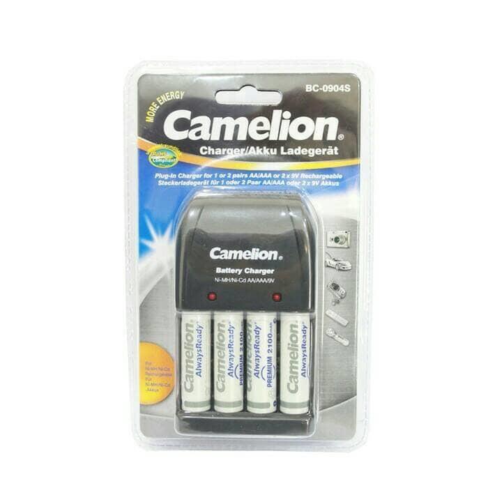 Charger camelion isi 4 bonus baterai aa 4 pcs (charger aaaaa9v)