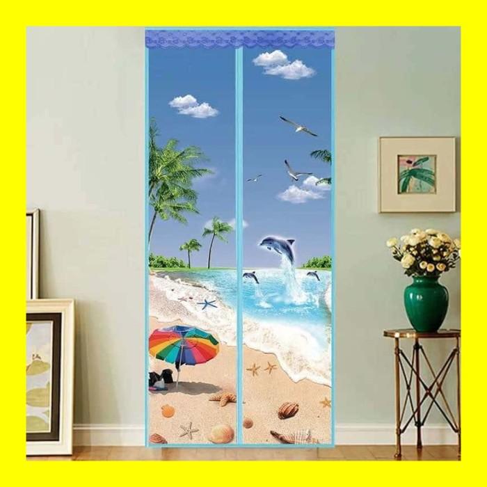 harga Tirai magnet anti nyamuk motif dolphin gorden kelambu pintu jendela Tokopedia.com