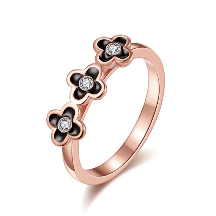 Jual Tiaria Flower Crown Ring Lkn18krgpr740-B-7 Plated Rose Gold Cincin Harga Promo Terbaru