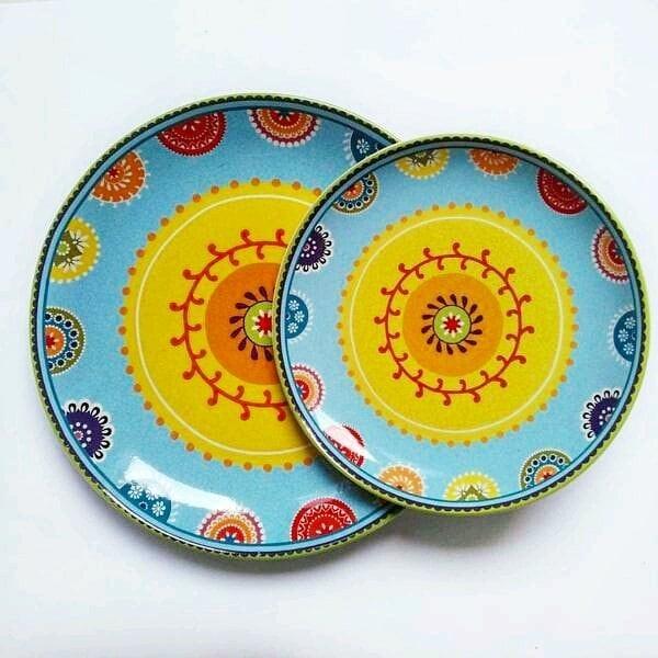 harga Piring Makan / Hias Sango Motif Blue Maroko Set Tokopedia.com