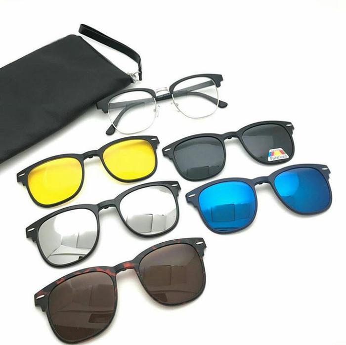 Jual Grosir Frame Kacamata 5 Lensa Clip On 2218 Fashion Gaya Sport ... 4f63a090dc
