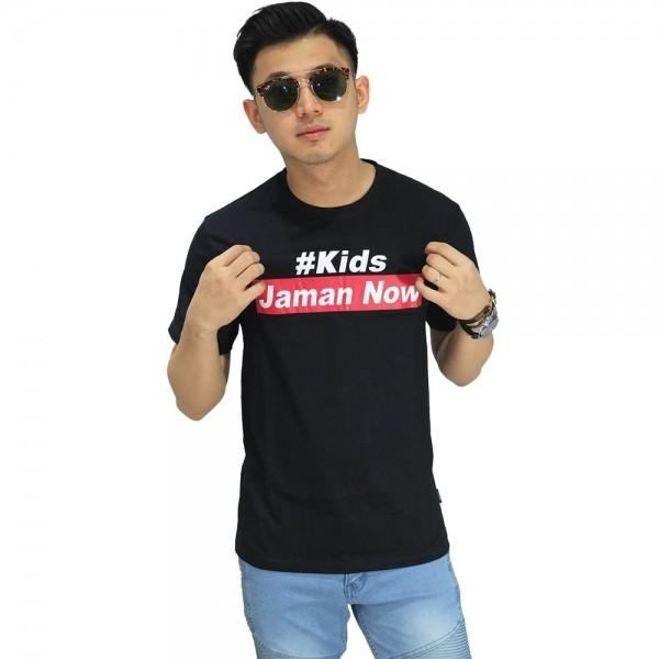 harga Kaos kids jaman now black/ kaos tulisan cowok murah/ kaos jaman now Tokopedia.com